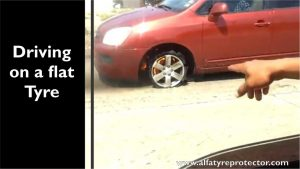 driving on a flat tyre